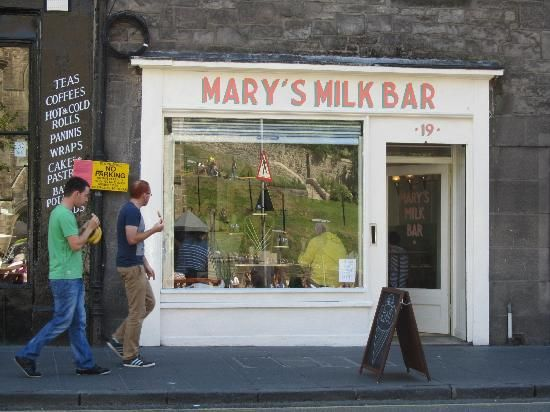 Mary's Milk Bar | 19 Grassmarket, Edinburgh EH1 2HS, Scotland