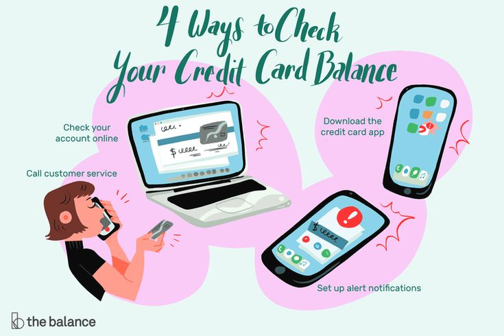 Check your credit card balance by phone online or with a
