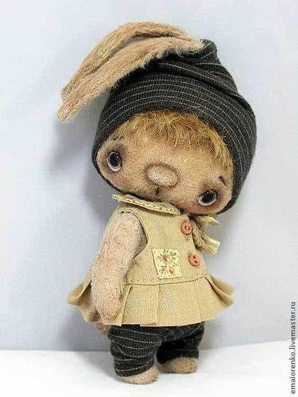 Зайка Сьюки - бежевый,зайчик,Авторский зайчик,елена майоренко,заяц,вискоза