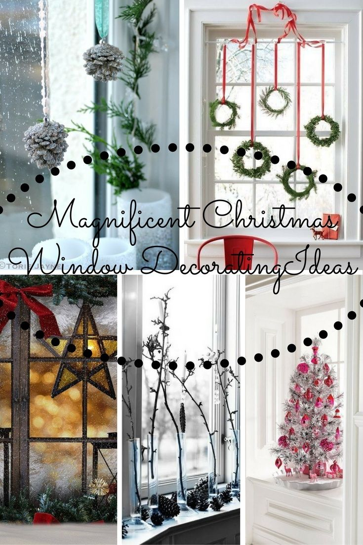 Best Christmas Window Decorating Ideas Images On Pinterest - Christmas window decorating ideas
