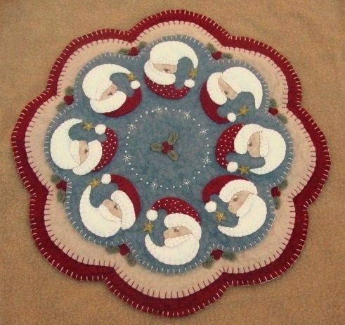 Believe~Christmas Penny Rug/Candle Mat Pattern