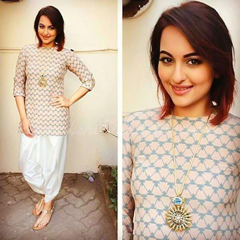 One From my Favorite styles of @aslisona 👍 #sonakshisinha #bollywood