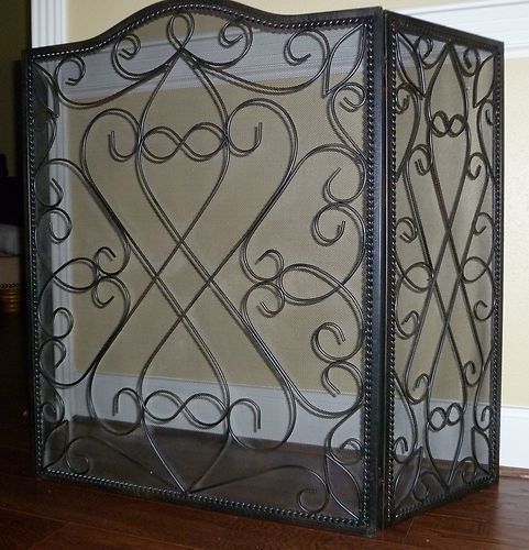 black iron fireplace screen. Southern Living black wrought iron fireplace screen The 25  best Wrought ideas on Pinterest