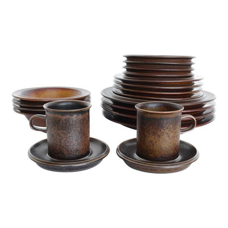 Ulla Procope Scandinavian Modern Dinnerware Finnish Matte Glaze Stoneware Ulla Procope Scandinavian Modern Din In 2020 Modern Dinnerware Modern Tableware Dinnerware