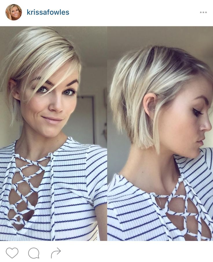 Short choppy bob haircut.