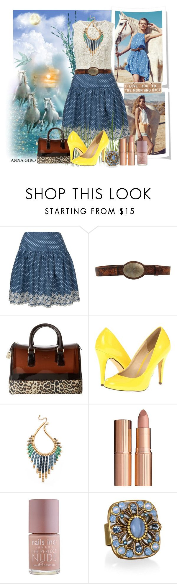 Kocham CIe. by annagiro on Polyvore featuring moda, Tokyo Doll, Michael Antonio, Furla, Adia Kibur, Levi's, Charlotte Tilbury, Nails Inc. and CAbi