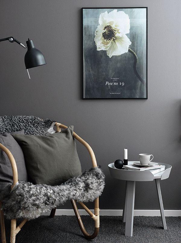 Beautiful dark colored walls