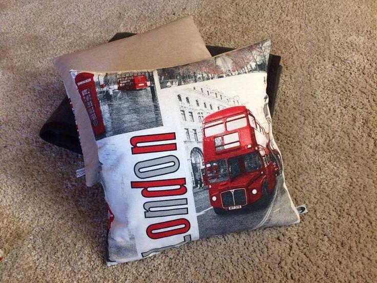 Kissenbezug 40 x 40 weiß rot schwarz London Bridge Kissenhülle ohne Kissen  | eBay