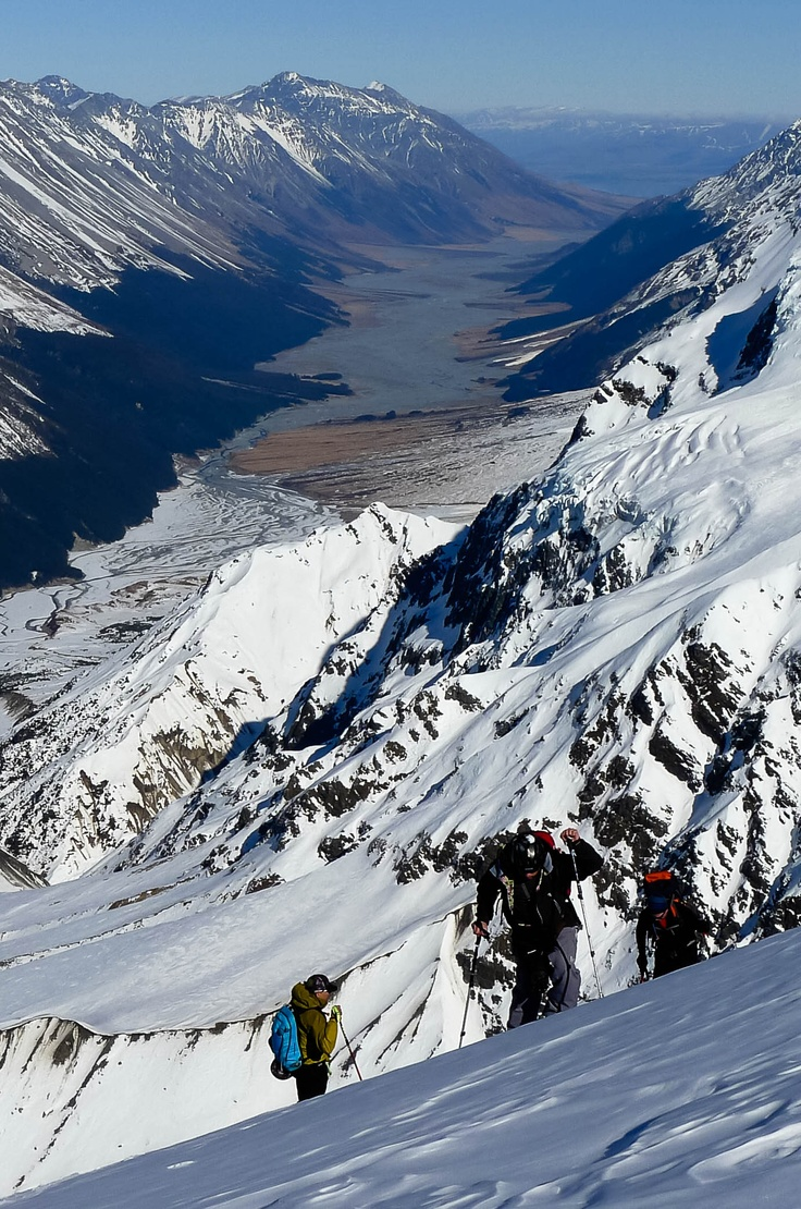 Splitboard Touring in the Mount Cook backcountry, New Zealand. #snowboard