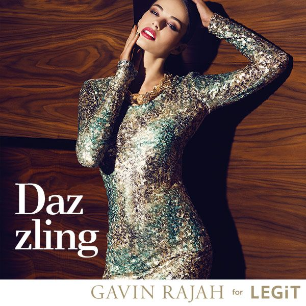 Gavin Rajah for LEGiT is definitely dazzling! We <3 this incredible sequin dress. #RajahLEGiT #GavinRajah #couture