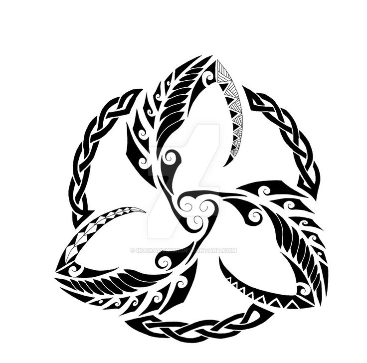 Triquetra Tattoos Designs Ideas And Meaning: Maori Fern Triquetra Commission By IkaikaDesign