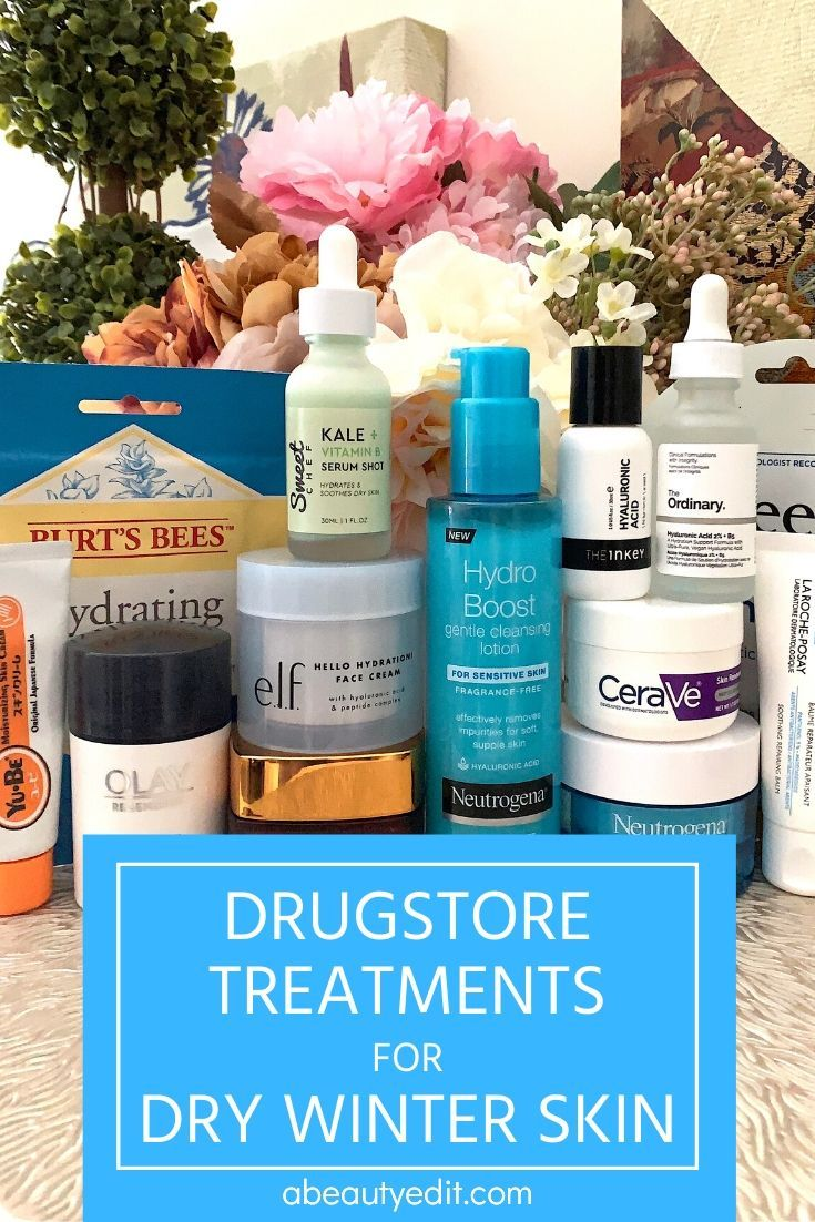 Drugstore Skincare Treatments For Dry Dehydrated Skin A Beauty Edit Dry Winter Skin Skin Care Treatments Dry Skin Treatment