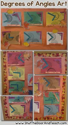 Art project with types of angles with a high degree of success for all learners.  Blog post via Shut the Door and Teach