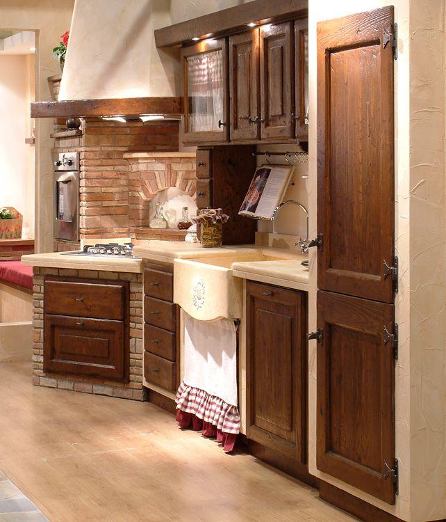Pi di 25 fantastiche idee su caminetti cucina su - Immagini di cucine rustiche ...