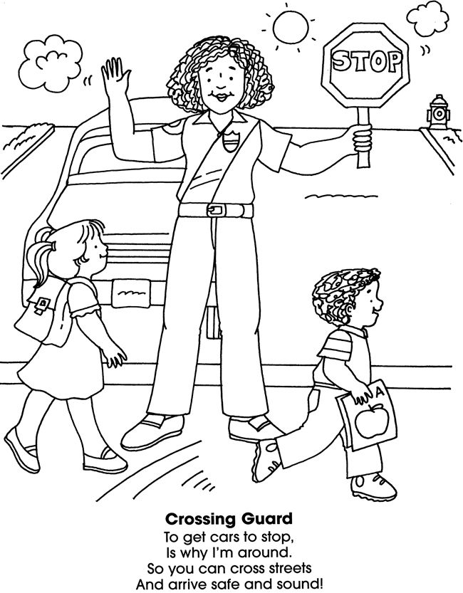 neighborhood helpers coloring book dover publications
