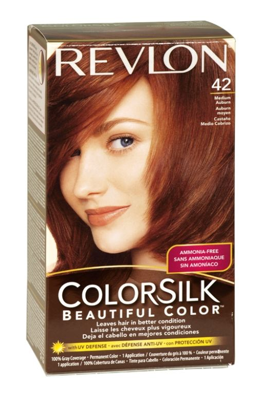 revlon colorsilk hair colour 42 medium auburn kikay kit