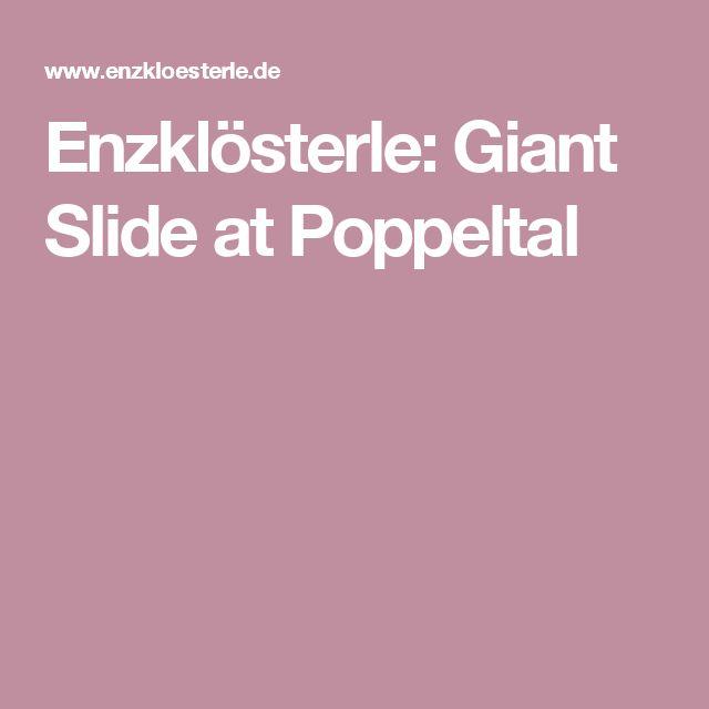 Enzklösterle: Giant Slide at Poppeltal