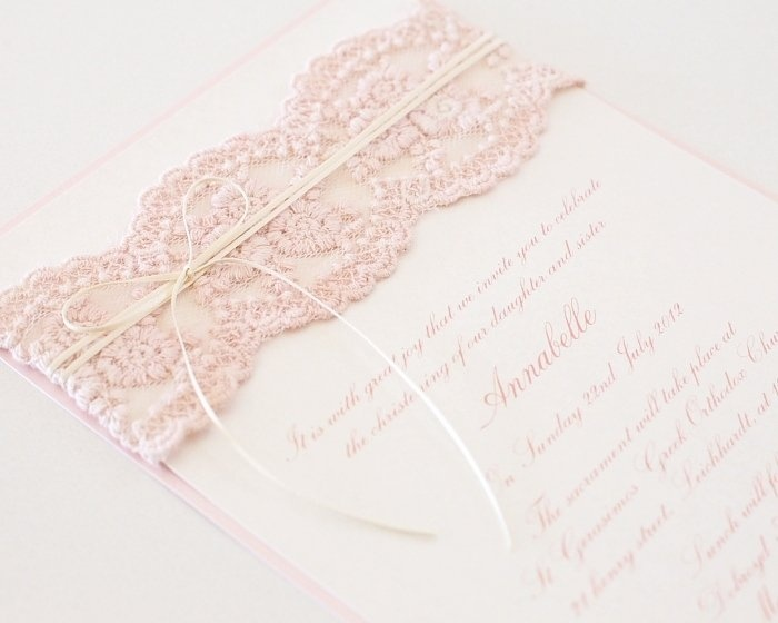 Antique Floral Lace Invitation - Le Petit