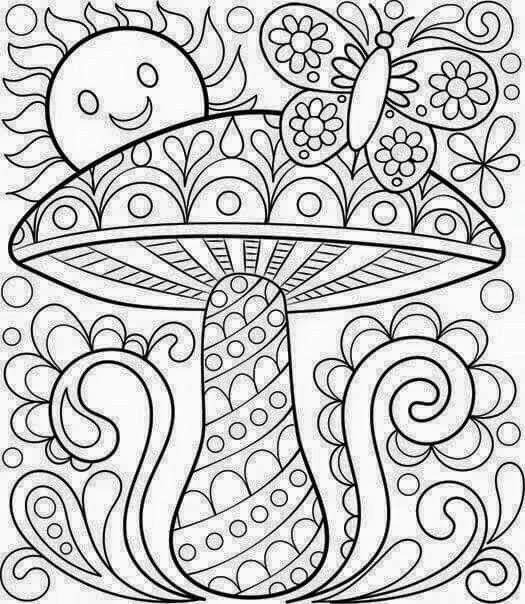 Free Coloring Calendar Toadstool Page By Thaneeya Lots Of Pages Here
