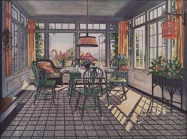 1924 Sun Room Sunroom Room And Vintage Interiors
