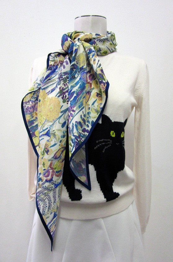"""Jardin d'Hiver"" Scarfs www.collection66.com"