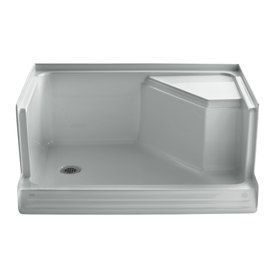 Kohler Memoirs Ice Grey Acrylic Shower Base (Common: 36-In W X 48-In L; Actual: 36-In W X 48-In L) 9486-95