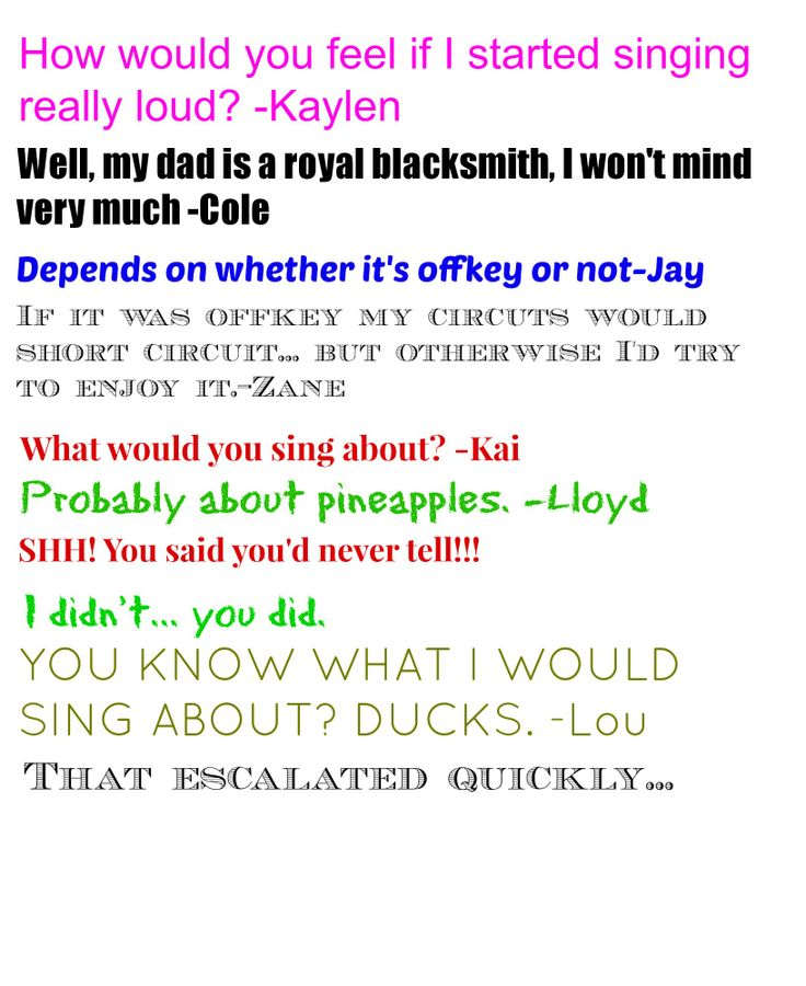 Yes, that did escalate quickly. :P I can totally imagine Lloyd singing 'Candy'.  Not 'Candyman' though, that's not a Lloyd song...