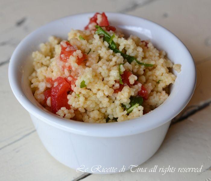 Couscous rucola e pomodorini,un primo piatto da servire freddo facile e gustoso
