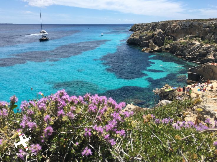 In #Favignana (#Sicily), from the village center take the road that leads to the most famous #beach: Cala Rossa . Than move to the next one, eventually more beautiful: Bue Marino. Both of them are marvelous, whit the deep blue and an enormous fishes variety