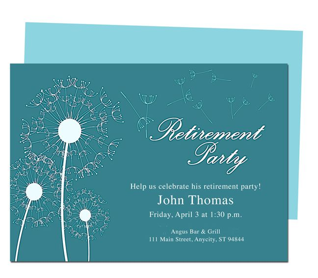 12 best invites images on pinterest invites invitations and winds retirement party invitation templates diy printable template and easy to edit in word publisher stopboris Image collections