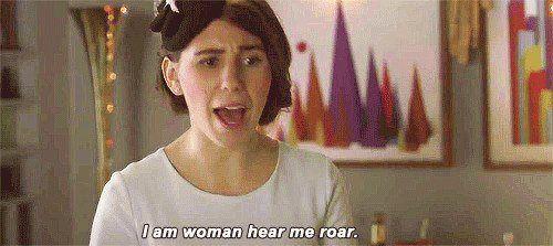 """I am a woman hear me roar"" shoshanna from girls."