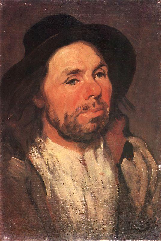Piotr Michałowski –Portret chłopa w kapeluszu