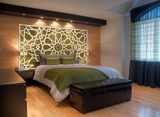 décoration orientale verte pour chambre