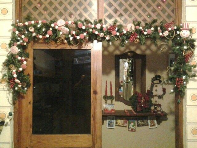 Deco Navidad 2013. Puerta cocina