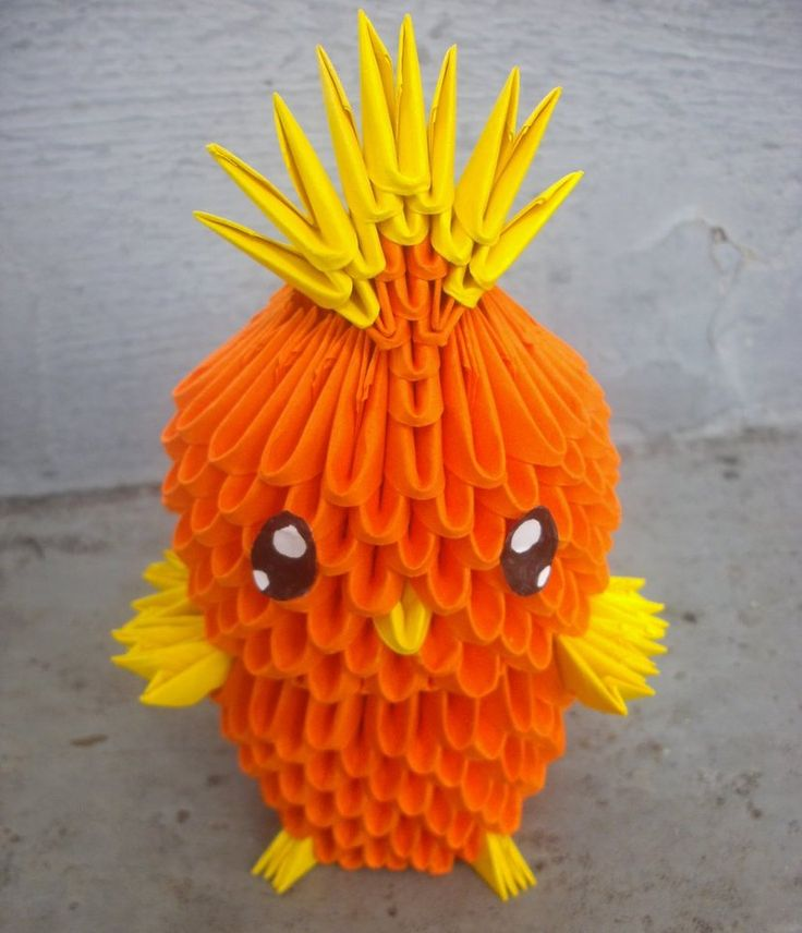 #255 Torchic - 3D origami by SophieEkard