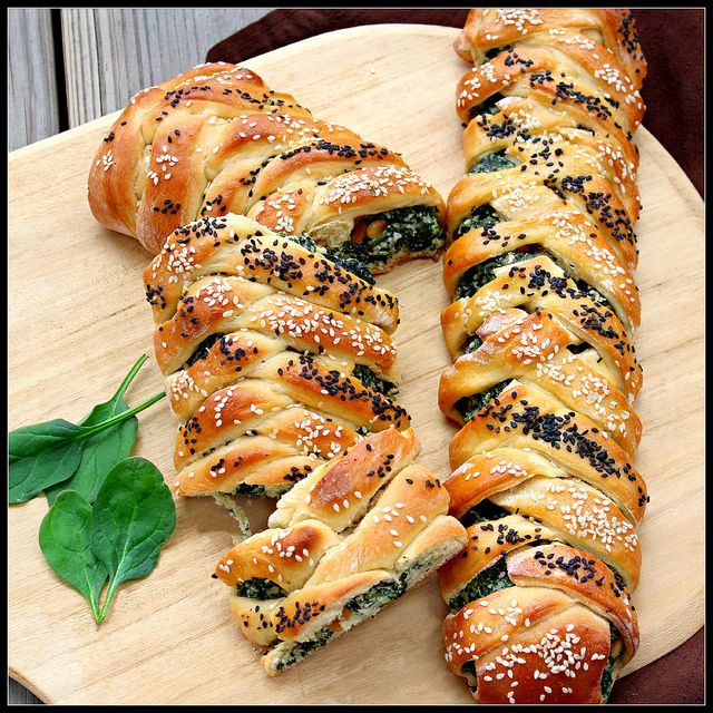 Spinach and Ricotta Challah by What About Second Breakfast @Shirley G