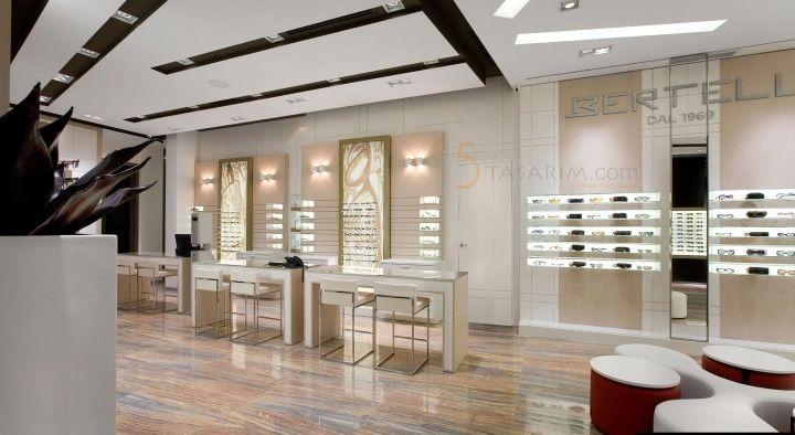 gözlük mağazası dekorasyonu modelleri