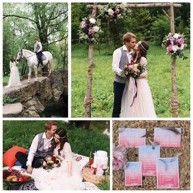 #Вдохновение в #стиль'е #бохо в 100%  новом номере @brideandstyle Организатор @mydreamw фотограф @assol_oparina #декор и #флористика  bloombloomflowers #свадебноеплатье @katerina_designer #визажист-#стилист @safronovamua  #жених #невеста #свадьба  #приглашения #лошадь #цветы #платье #свадебнаяарка #wedding #bride #groom #dress #weddindress #flowers #bouquet #inspiratiom #horse #whie #whitehorse #bridemagru #bohemien