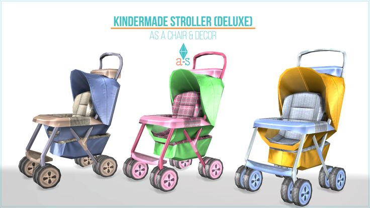 Lana Cc Finds Ts3 Tots4 Kindermade Strollers Omg Too