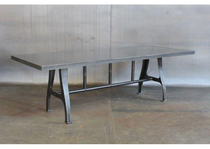 STEEL TABLE W/ VINTAGE LEGS | Sanitas | Pinterest | Steel Table, Steel And Industrial  Table