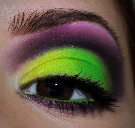Love this neon green!: Makeup Fun, Hair Makeup Nails, Makeup Ideas, Sai Makeup