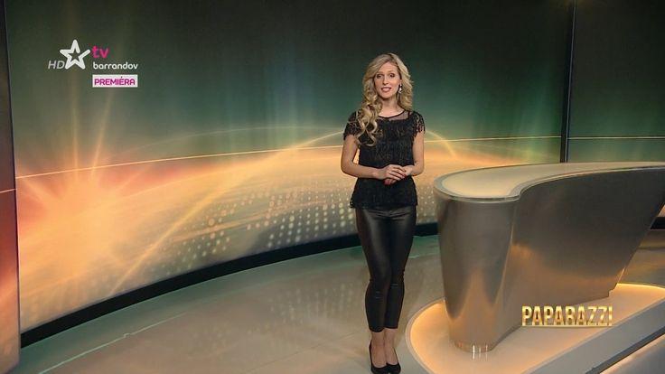 Lucie Šprinclová Czech presenter Leather Pants 12.3.2017