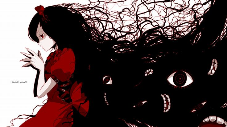 scary shadow anime girl google search horror