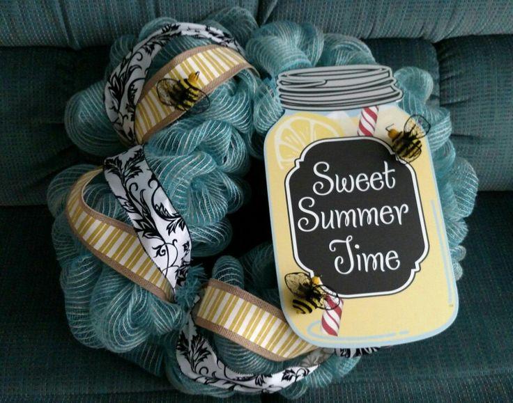 Sweet Summer Time burlap mesh wreath