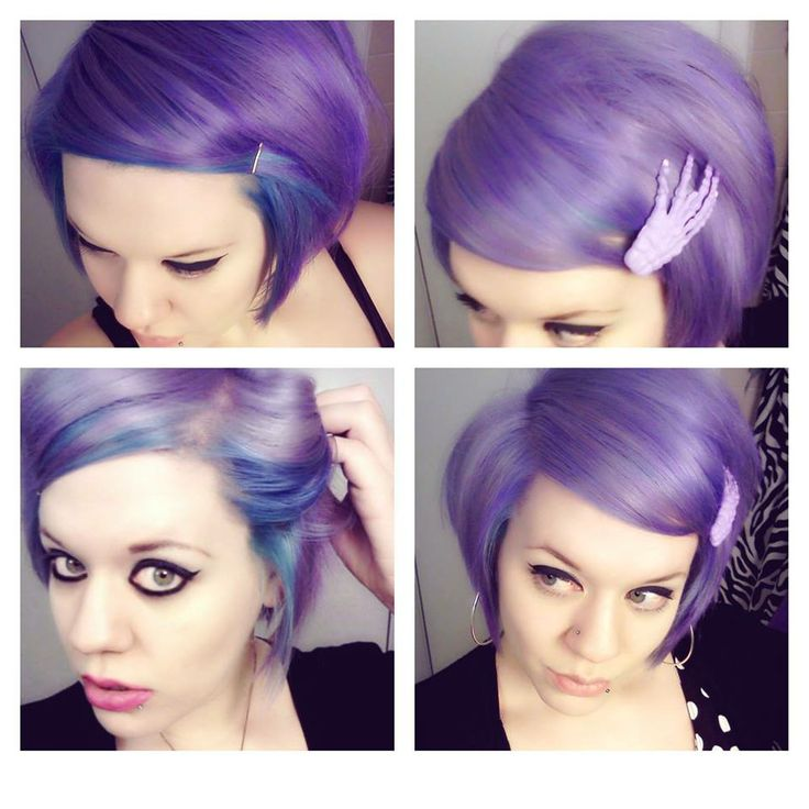 Very pretty short lavender hair
