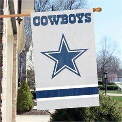 "Dallas Cowboys Flag - 44""x28"" 2 Sided Outdoor House Flag"