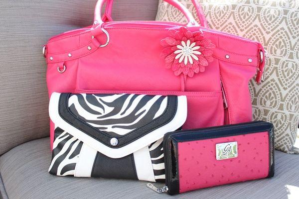 Grace Adele Clutch http://orgjunkie.com/2013/06/a-pretty-in-pink-grace-adele-purse-clutch-wallet-jewelry-giveaway.html