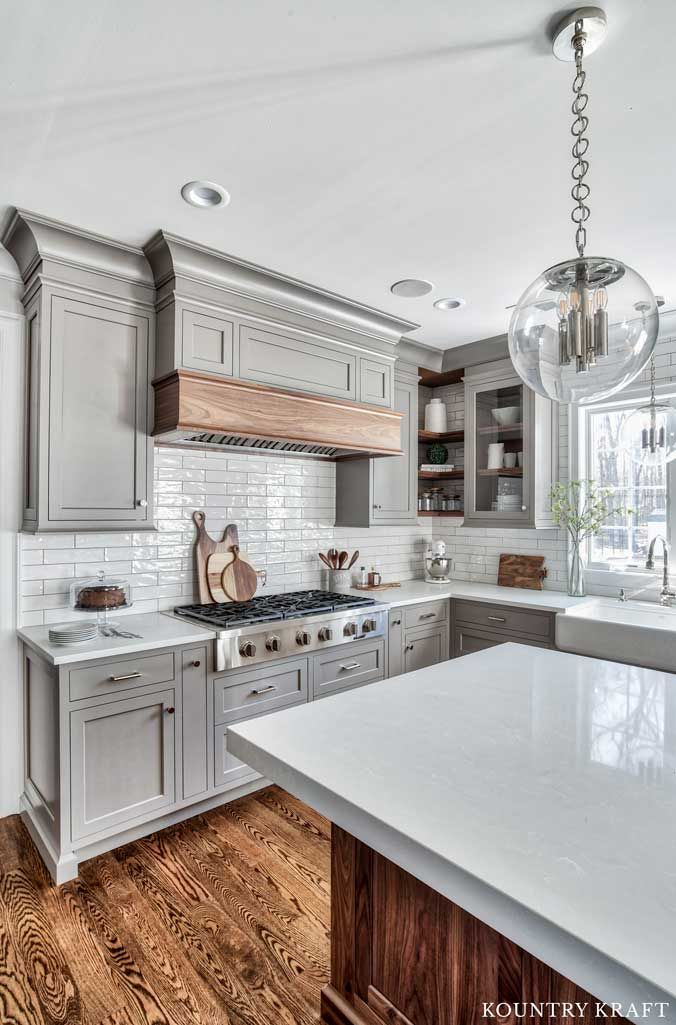 Custom Gray Kitchen Cabinets In Florham Park New Jersey With