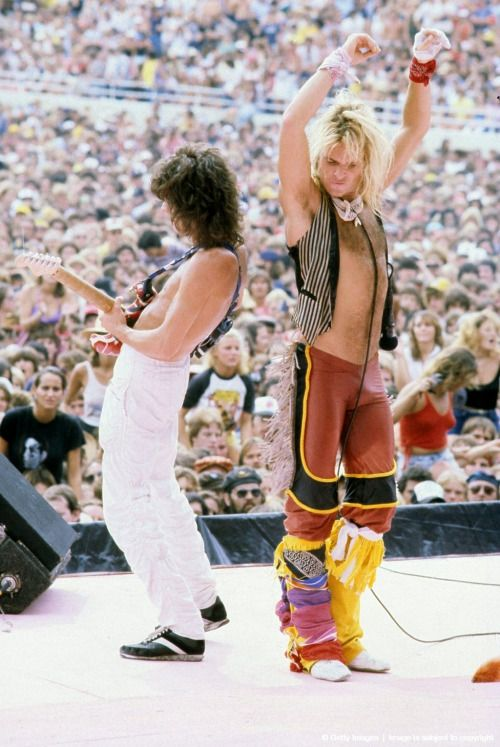 Van Halen - David Lee Roth, 1984. All these people are old or dead now. Just saying. #BuzzKillington