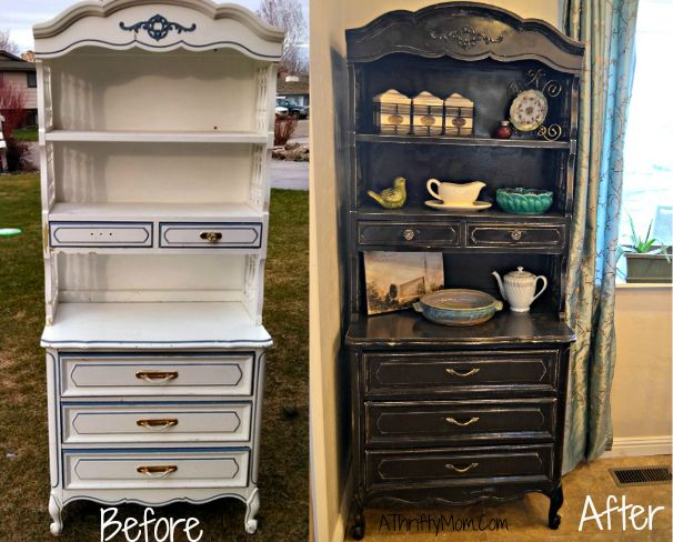 Simple diy... hutch before and afterKitchens Tables